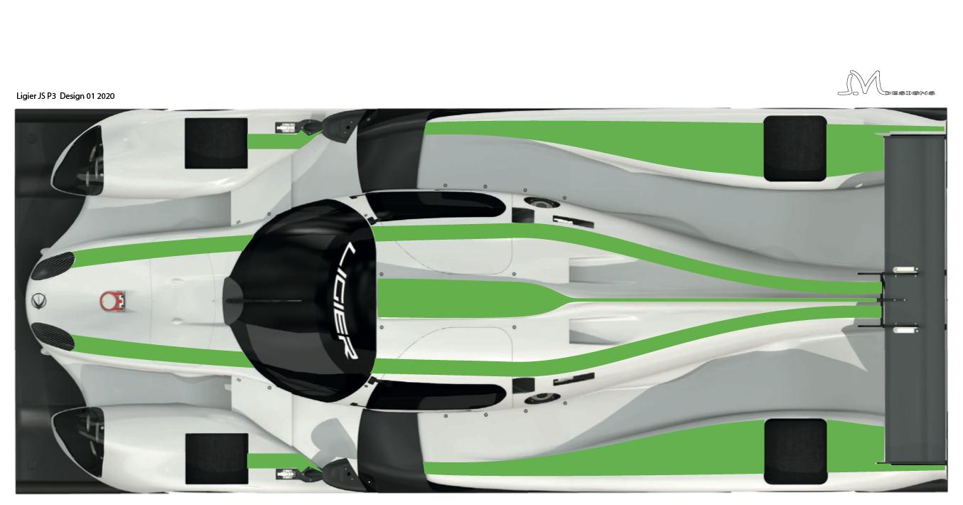 LMP3   Ligier JS P3-1 top  déco