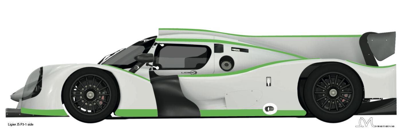 LMP3  Ligier JS P3 side-1  déco